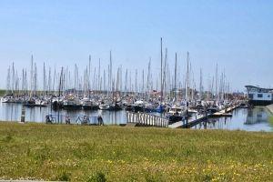 Wadden Sea harbor Texel