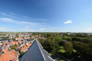 Climbing the church tower of Den Burg