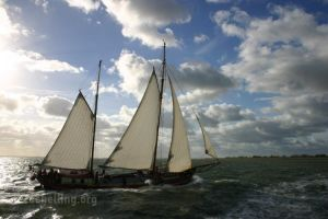 Sailing on the Wadden Sea